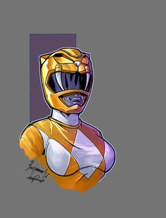 Mighty Morphin Power Rangers yellow ranger color by le0arts on DeviantArt