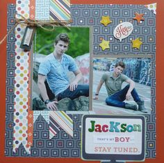 Jackson...Thats my BOY - Scrapbook.com That's My Boy Collection from Echo Park.