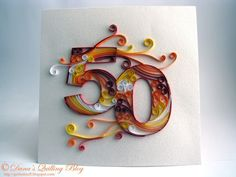 Dana's Quilling Blog: 50th Birthday Card                                                                                                                                                                                 More