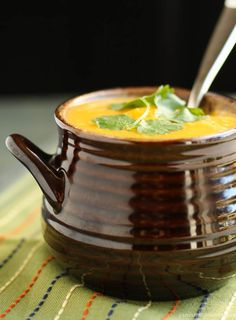 Thai Curried Butternut Squash Soup - for serious vegetarians, I guess you can substitute chicken stock with water and fish sauce with soy sauce :)