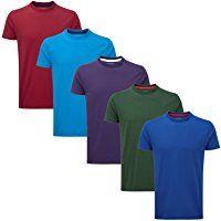 Charles Wilson 5 Pack Plain Crew Neck T-Shirt Bargain Shopping, Neck T Shirt, Wardrobe Staples, Crew Neck, Men's Clothing, Casual, Clothes, Tops, Women