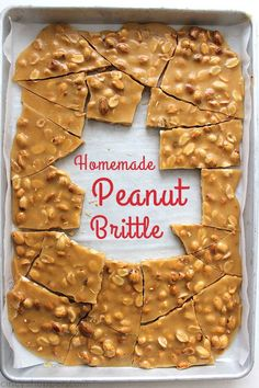 Homemade Peanut Brittle- Perfect traditional recipe that is great for Christmas gifts, holiday candy trays, or all year long sweet. for best friends candy Homemade Peanut Brittle Holiday Candy, Holiday Desserts, Holiday Baking, Holiday Treats, Holiday Recipes, Christmas Treats For Gifts, Christmas Dessert Recipes, Traditional Christmas Desserts, Thanksgiving Desserts
