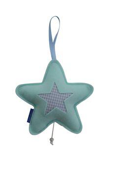Kasthanger muziekdoosje ster mintgroen mint babykamer kinderkamer Ook op maat te bestellen naar je eigen kleur wensen.
