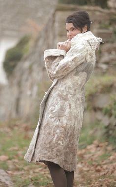 handmade  felt coat. Winter Story par irenalevkovich |  Etsy.