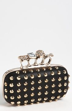 Natasha Couture 'Finger' Studded Clutch
