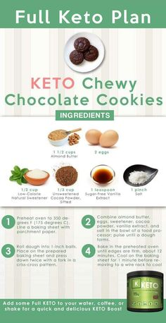 The 2 Week Diet, lose at leasst 6 pounds, Keto Chewy Chocolate Cookies Recipe Chewy Chocolate Cookies, Keto Chocolate Chips, Chocolate Cookie Recipes, Decadent Chocolate, Ketogenic Recipes, Keto Recipes, Healthy Recipes, Healthy Food, Dessert Recipes