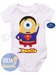 Body Infantil - Minions - Super-Heróis - Super-Homem