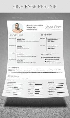 Resume  Modern Resume Template Modern Resume And Stationery Design