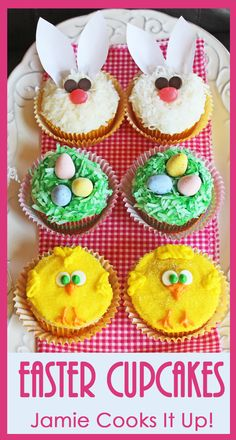 Cute Easter Cupcakes from Jamie Cooks It Up!