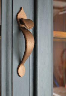 grey units with copper hardware. #mydreamkitchen @KitchenDoorWorkshop