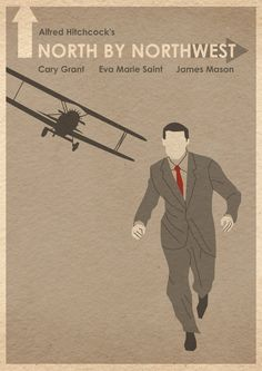 North By Northwest 16x12 Movie Poster by MosterGallery (on etsy)