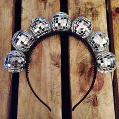 DISCO BALL CROWN This catches the light like a DREAM. 7 super-sparkly disco…
