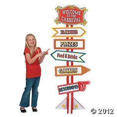 Big Top Directional Sign