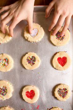 Sweet heart sugar cookies + valentine's tea party
