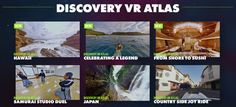 Discovery VR is a new virtual reality app from the Discovery Channel which allows you to explore 360 degree videos from the Discovery archive.
