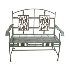 """44"""" WIDE SONGBIRD METAL BENCH Listen to the birds sing while you relax in this Metal Bench from Alpine. Simple yet elegantly designed"""
