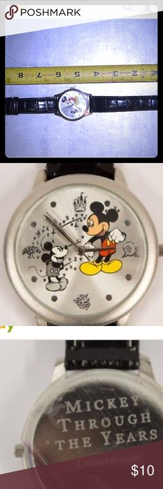 ✨Mickey Mouse limited edition watch Lightly used. Pretty good condition. Just been sitting in a box, hasn't been worn in a long while. Disney Accessories Watches