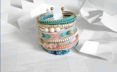 "Bracelet ""Ribambelle"" tons turquoise et rose : Bracelet par knock-on-wood"