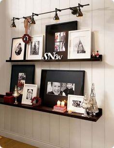 juego estantes cuadros fotos decoracion modernos laqueados!!