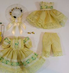 """""""SPRING FEVER"""" 8 PC. OUTFIT fits 13"""" Dianna Effner Little Darling Doll/CBR"""
