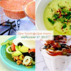 Raw on $10 a Day (or Less!): Raw Food Recipe Menu: September 27, 2015