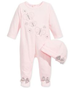 1565d47f6de First Impressions Baby Girls  2-Pc. Velour Headband  amp  Footed Butterly  Coverall