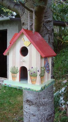 manualidades mimos pilar vicente del barrio: casita para pajaros