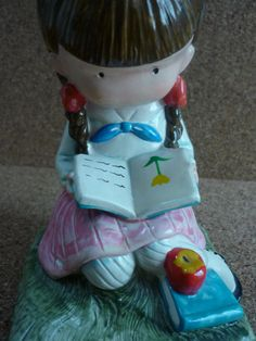Vtg Joan Walsh Anglund Girl Figurine Reading by VintageByJessie