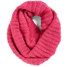 Collection XIIX Ribbed Loop Scarf ($38) ❤ liked on Polyvore featuring accessories, scarves, ultraviolet pink, pink infinity scarves, pink shawl, round scarves, circle scarf and tube scarves