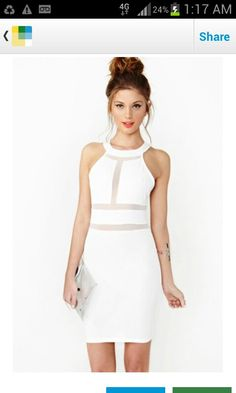 White classy dress