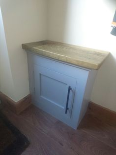 Small cupboard that covers a gas meter