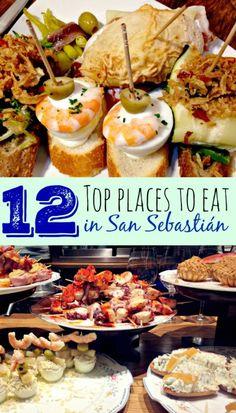 Top 12 Places To Eat In San Sebastián via @mytravelmonkey