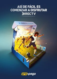 Integrated advertisement created by Grey, Colombia for DIRECTV, within the category: Media. Kids Graphic Design, Creative Poster Design, Creative Posters, Ad Design, Graphic Design Inspiration, Design Posters, Sports Advertising, Creative Advertising, Advertising Design