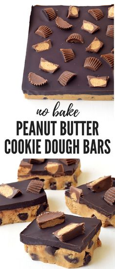 No Bake Peanut Butter Cookie Dough Bars - Sweetest Menu