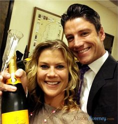 James Scott and Alison Sweeney Behind the scenes Days of our Lives