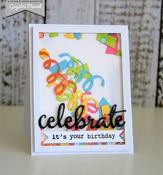 Winnie & Walter - Confetti Cuts - Celebrate Shaker Card