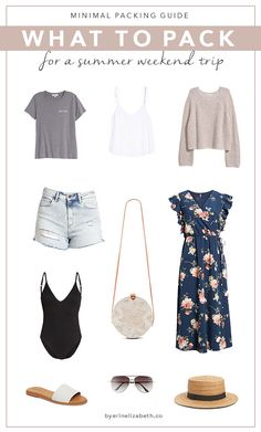 minimal packing, classic style, minimal fashion, what to pack for a weekend trip, weekend getaway, summer trip, time capsule wardrobe, capsule wardrobe, capsule closet, minimalist fashion, packing tips, packing tips for vacation, minimal packing travel, minimal packing list // by erin elizabeth