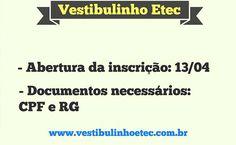 Vestibulinho+Etec+2016+-+2º+Semestre