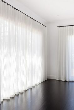 I love having the options of sheer curtains and solid curtains on     Sheer Curtains Design Ideas  Pictures  Remodel  and Decor   page 7
