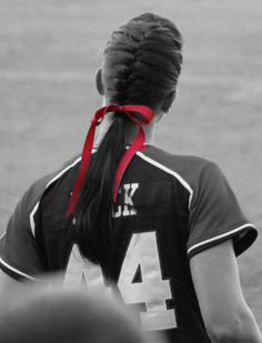 #softball #hair. #brittneymack.