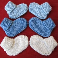 Cozy Baby Booties knitting pattern (pdf digital download) on Etsy, $3.83 AUD