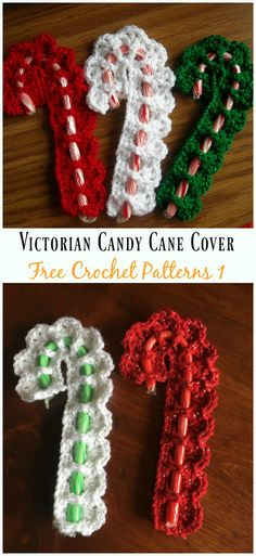 Christmas Candy Cane Cozy Crochet Free Patterns, DIY and Crafts, Victorian Candy Cane Cover Crochet Free Pattern - Cane; Crochet Christmas Decorations, Crochet Christmas Ornaments, Crochet Decoration, Christmas Knitting, Christmas Crafts, Christmas Candy, Christmas Patterns, Crochet Christmas Stocking Pattern, Holiday Crochet Patterns