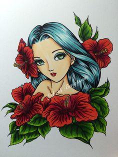 Digi Hibiscus Spirit,  Aurora Wings