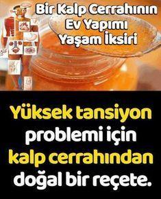 Yüksek tansiyon problemi için kalp cerrahından doğal bir reçete. Turkish Kitchen, Health Care, Food And Drink, Health Fitness, Homemade, Bottle, Healthy, Recipes, Aspirin