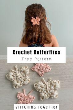 Crochet Butterfly Free Pattern, Crochet Patterns, Crochet Appliques, Crochet Decoration, Crochet Flowers, Crochet Birds, Crochet Accessories, Crochet For Kids, Beautiful Crochet