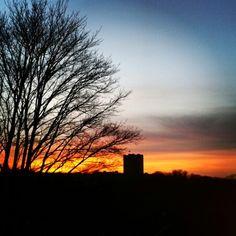 Sunset. Conisbrough Castle South Yorkshire