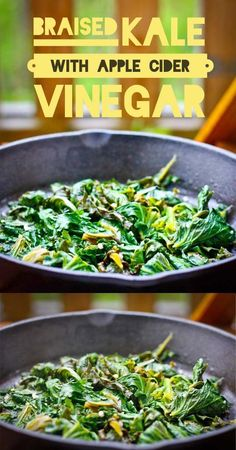 Easy Braised Kale with Apple Cider Vinegar- 5 ingredients, less than 10 minutes (scheduled via http://www.tailwindapp.com?utm_source=pinterest&utm_medium=twpin&utm_content=post84253643&utm_campaign=scheduler_attribution)
