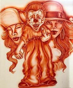 Arte Cholo, Cholo Art, Behind Ear Tattoos, Chicano Art Tattoos, Hispanic Art, Chola Style, Latino Art, Prison Art, Graffiti Lettering Fonts