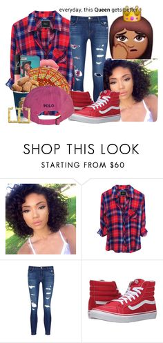 """""""I Ain't Sorry//Beyonce"""" by qveenlee18 ❤ liked on Polyvore featuring J Brand and Vans"""