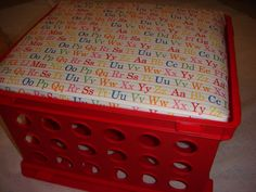 Want to make 1 for each child to keep their school supplies in.. Would make keeping things together a lot easier and double as a good seat for when they need seat to do their work!